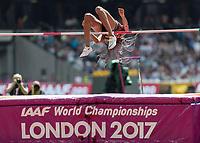 Athletics - 2017 IAAF London World Athletics Championships - Day Two (AM Session)<br /> <br /> Event: High Jump Women - Heptathlon<br /> <br /> Nafissatou Thiem (BEL) clears the bar  <br /> <br /> COLORSPORT/DANIEL BEARHAM
