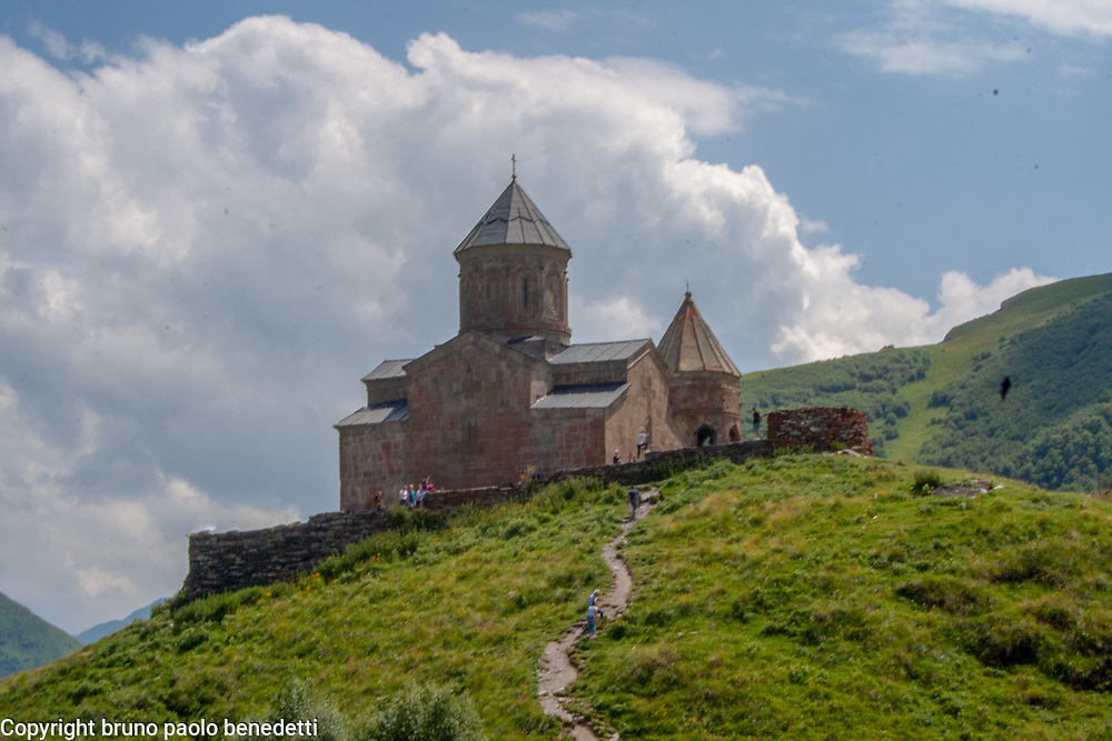 Holy Trinity Church or Gergeti Trinity Church in Georgia