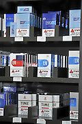 Various cigarette brands with health warning