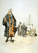 Member of a London Wardmote Inquest in official dress. These bodies checked weights and measures for accuracey. From William Henry Pyne 'Costume of Great Britain', London, 1808.