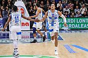 DESCRIZIONE : Campionato 2014/15 Serie A Beko Dinamo Banco di Sardegna Sassari - Upea Capo D'Orlando<br /> GIOCATORE : Kenneth Kadji Jerome Dyson<br /> CATEGORIA : Fair Play Ritratto Esultanza<br /> SQUADRA : Dinamo Banco di Sardegna Sassari<br /> EVENTO : LegaBasket Serie A Beko 2014/2015<br /> GARA : Dinamo Banco di Sardegna Sassari - Upea Capo D'Orlando<br /> DATA : 22/03/2015<br /> SPORT : Pallacanestro <br /> AUTORE : Agenzia Ciamillo-Castoria/L.Canu<br /> Galleria : LegaBasket Serie A Beko 2014/2015
