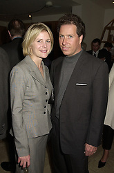 VISCOUNT & VISCOUNTESS LINLEY at a reception in London on 26th September 2000.OHI 97