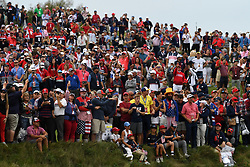 Spectators on the 18th fairway watching the closing ceremony as Team USA win the Ryder Cup at the end of day three of the 43rd Ryder Cup at Whistling Straits, Wisconsin. Picture date: Sunday September 26, 2021.