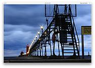 The Grand Haven Lighthouse on Lake Michigan, Grand Haven, Michigan, USA