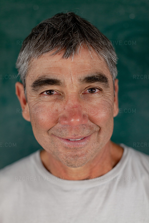 Portrait of surfer Gerry Lopez. Photo © Robert Zaleski / rzcreative.com<br /> —<br /> To license this image contact: robert@rzcreative.com