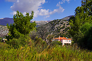 Rural landscape On the Greek Island of Cephalonia, Ionian Sea, Greece