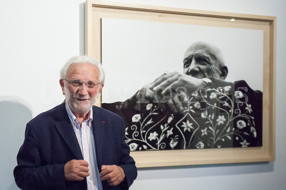 """Lucien Clergue, photograph, presents at the french institute in Madrid the opening of his exhibition called """"The Intimate Picasso""""."""