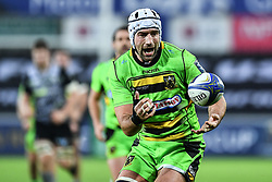 Northampton Saints' Michael Paterson in action during todays match<br /> <br /> Photographer Craig Thomas/Replay Images<br /> <br /> EPCR Champions Cup Round 4 - Ospreys v Northampton Saints - Sunday 17th December 2017 - Parc y Scarlets - Llanelli<br /> <br /> World Copyright © 2017 Replay Images. All rights reserved. info@replayimages.co.uk - www.replayimages.co.uk