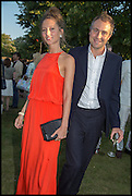 JEMIMA JONES; BEN GOLDSMITH, 2014 Serpentine's summer party sponsored by Brioni.with a pavilion designed this year by Chilean architect Smiljan Radic  Kensington Gdns. London. 1July 2014