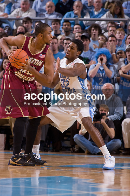31 January 2008: North Carolina Tar Heels forward Alex Stepheson (32) during a 69-91 win over the Boston College Eagles at the Dean Smith Center in Chapel Hill, NC.
