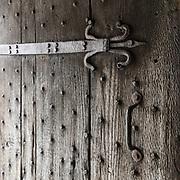 Door detail, Plas Mawr, Conwy.
