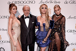 Camilla Marrone, Fawaz Gruosi, Rita Ora and Elsa Hosk attending the de Grisogono party ahead the 70th Cannes Film Festival, at Eden Roc Hotel in Antibes, France on May 23, 2017. Photo Julien Reynaud/APS-Medias/ABACAPRESS.COM
