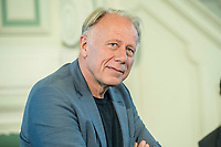"""27 JUN 2017, BERLIN/GERMANY:<br /> Juergen Trittin, MdB, B90/Gruene, Bundesumweltminister a.D., 25. bbh-Energiekonferenz """"Letzte Ausfahrt Dekarbonisierungf Energie- und Mobilitätswende"""",<br /> Französischer Dom<br /> IMAGE: 20170627-01-100<br /> KEYWORDS: Jürgen Trittin"""
