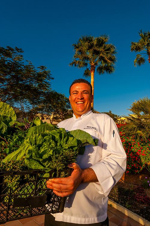 Executive sous chef Muryad Elaymi, the Radisson Blu Tala Bay Resort on the Gulf of Aqaba, Red Sea, near Aqaba, Jordan.