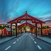 You have not truly been to Trondheim without having crossed the Old Town Bridge. The Old Town Bridge crosses the river Nidelven from the southern end of Kjøpmannsgata and connects the city centre with Bakklandet. Bakklandet is an exciting neighbourhood with inviting cafes and unique boutiques. The bike lift «Trampe» also has its starting point at Bakklandet. Text from Visit Norway. Please feel free to check my photos here or find me by: |Website| ,|Facebook page| , |Instagram| ,|Google+| ,|Twitter |.