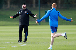 Everton caretaker manager David Unsworth during the training session at Finch Farm, Liverpool.