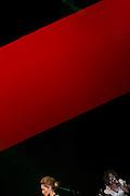 Belo Horizonte_MG, Brasil...Modelo desfilando ao som de Elza Soares no Oi Fashion Tour no Palacio das Artes. ..A model paraded with the Elza Soares songs in Oi Fashion Tour at Palacio das Artes. ..Foto: LEO DRUMOND / NITRO