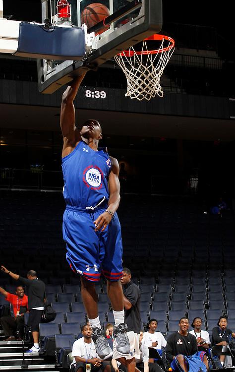 Billy Garrett participates in a basketball camp in Charlottesville, Va. (Photo/Andrew Shurtleff)