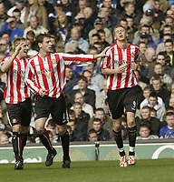 Photo: Aidan Ellis.<br /> Everton v Sunderland. The Barclays Premiership. 01/04/2006.<br /> Sunderland's Jonathon Stead shows his reief after scoring for his team