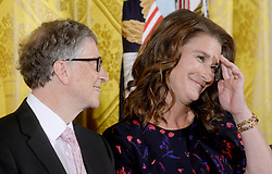 Bill Gates and his wife Melinda announce their divorce. The billionaire co-founder of Microsoft, and his wife, who reside in Washington State, are to divorce after twenty-seven years of marriage, and twenty years of working together in their foundation - File - Bill and Melinda Gates looks on during a Presidential Medal of Freedom ceremony honoring 21 recipients, in the East Room of the White House in Washington, DC, USA, November 22, 2016. Photo by Olivier Douliery/ABACAPRESS.COM