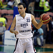 Efes Pilsen's Ender ARSLAN during their Turkish Basketball league Play Off Final fifth leg match Efes Pilsen between Fenerbahce Ulker at the Ayhan Sahenk Arena in Istanbul Turkey on Sunday 30 May 2010. Photo by Aykut AKICI/TURKPIX