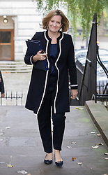 © Licensed to London News Pictures. 10/10/2017. Home Secretary Amber Rudd attends the weekly cabinet meeting in Downing Street. London, UK. Photo credit: Peter Macdiarmid/LNP