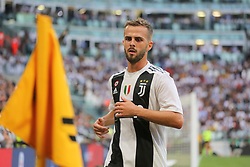 August 25, 2018 - Turin, Piedmont, Italy - Miralem Pjanic (Juventus FC) during the Serie A football match between Juventus FC and SS Lazio at Allianz Stadiumon august 25, 2018 in Turin, Italy. (Credit Image: © Massimiliano Ferraro/NurPhoto via ZUMA Press)