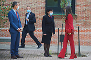 Queen Letizia of Spain attends  the annual meeting of the board of the student residence at Residencia de Estudiantes on October 8, 2020 in Madrid, Spain