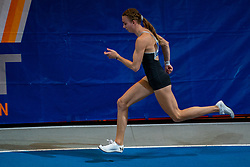 Femke Bol in action on the 400 meter during AA Drink Dutch Athletics Championship Indoor on 20 February 2021 in Apeldoorn.