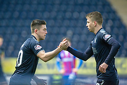 Falkirk's Kevin O'Hara on in place of Andrew Nelson. Falkirk 3 v 1 Inverness Caledonian Thistle, Scottish Championship game played 27/1/2018 at The Falkirk Stadium.