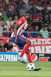 September 27, 2017 - Madrid, Madrid, Spain - Thomas Partey whit the ball..Victory in the last seconds of the game for Chelsea by 1 to 2. Griezmann, Morata and Batshuayi makes the score. (Credit Image: © Jorge Gonzalez/Pacific Press via ZUMA Wire)