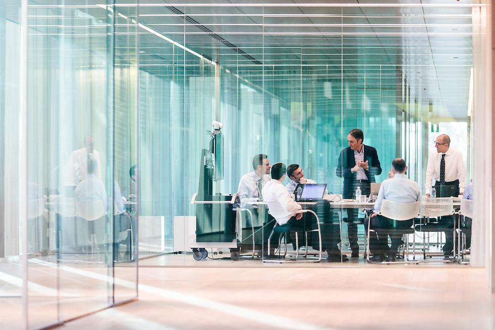 24 APR 2012 - Cesena - Nerio Alessandri, fondatore Technogym, durante una riunione con i collaboratori nella nuova sede dell'azienda