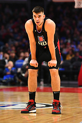 February 14, 2019 - Los Angeles, CA, U.S. - LOS ANGELES, CA - FEBRUARY 13: Los Angeles Clippers Center Ivica Zubac (40) during a NBA game between the Phoenix Suns and the Los Angeles Clippers on February 13, 2019 at STAPLES Center in Los Angeles, CA. (Photo by Brian Rothmuller/Icon Sportswire) (Credit Image: © Brian Rothmuller/Icon SMI via ZUMA Press)