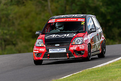 Albert Webster in action while competing in the BRSCC Fiesta Junior Championship. Picture taken at Cadwell Park on August 1 & 2, 2020 by BRSCC photographer Jonathan Elsey
