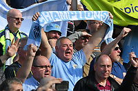 BRIGHTON, ENGLAND - MAY 12:     Fans celebrate their team winning the Premier League during the Premier League match between Brighton & Hove Albion and Manchester City at American Express Community Stadium on May 12, 2019 in Brighton, United Kingdom. (MB Media)