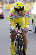 London 7th July 2007: Saunier Duval-Prodir's Francisco Ventoso (#209) finished 151st overall at +1 minute 10 seconds in the opening prologue of the 2007 Tour de France cycling race.