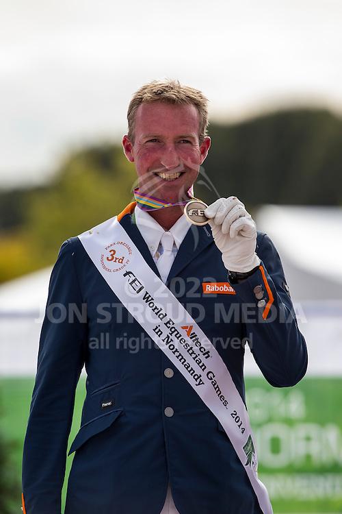 Frank Hosmar, (NED) - Freestyle Test Grade IV Para Dressage - Alltech FEI World Equestrian Games™ 2014 - Normandy, France.<br /> © Hippo Foto Team - Leanjo de Koster<br /> 29/08/14