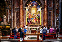 """Mass in the Papal Basilica of St. Peter in the Vatican at the Altar of St. Pius X""…<br />