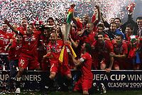 Photo: Paul Thomas.<br /> Espanyol v Sevilla. UEFA Cup Final. 16/05/2007.<br /> <br /> Sevilla celebrates.