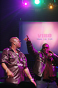 l to r: Ron Browz and Busta Ryhmes at The Vibe Magazine Presents Vsessions Live! Hosted by the Fabulous Toccara featuring Hal Linton, Suai and Ron Browz held at Joe's Pub on February 25, 2009 in NYC