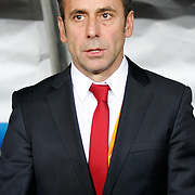 Turkey's head coach Abdullah Avci during their FIFA World Cup 2014 qualifying soccer match Turkey betwen Estonia at Sukru Saracoglu stadium in Istanbul September 11, 2012. Photo by TURKPIX