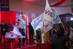 """O candidato a governador do Estado pela coligação """"O Rio Grande Merece Mais"""", Vieira da Cunha durante mobilização em Triunfo. FOTO: Jefferson Bernardes/ Agência Preview"""
