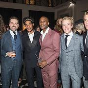 NLD/Amsterdam/20171114 - Esquire's Best Dressed Man 2017, Lucas Hammin, Klaas Dijkhoff, Maurice Lede, Gregory Sedoc, Lucas en Arthur Jussen