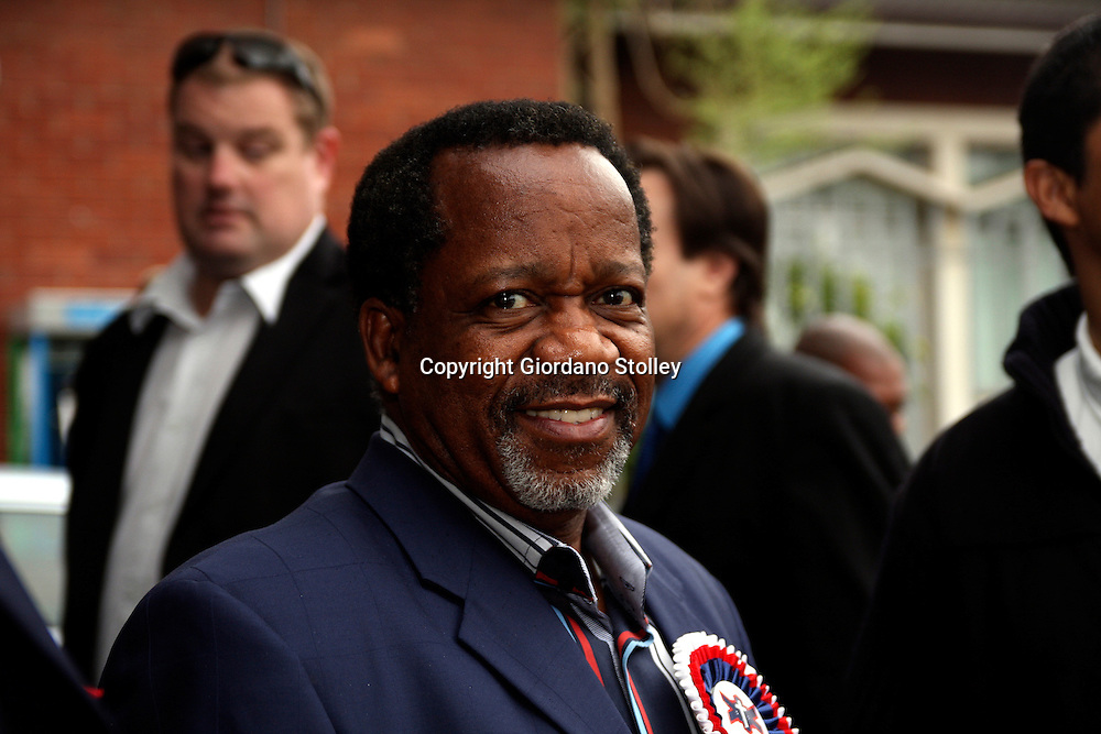 DURBAN - 28 September 2012 - African Christian Democratic Party leader Rev Kenneth Meshoe arrives for the launch of the Coalition Agaianst Corruption at the Pinetown Civic Centre in Durban..Picture: Giordano Stolley/Allied Picture Press/APP