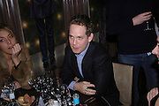 Dixie Chassay, Tom Hollander and Kate Pakenham. W'Sens-restaurant launch party. 12 Waterloo Place. 10 December 2004. ONE TIME USE ONLY - DO NOT ARCHIVE  © Copyright Photograph by Dafydd Jones 66 Stockwell Park Rd. London SW9 0DA Tel 020 7733 0108 www.dafjones.com