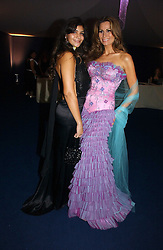 Left to right, MISS SOPHIE KRISTENSEN and her mother designer ISABELL KRISTENSEN at the British Red Cross London Ball held at The Room by The River, 99 Upper Ground, London SE1 on 16th November 2006.<br />