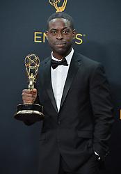 Sterling K. Brown  im Press Room bei der Verleihung der 68. Primetime Emmy Awards in Los Angeles / 180916<br /> <br /> *** 68th Primetime Emmy Awards in Los Angeles, California on September 18th, 2016***