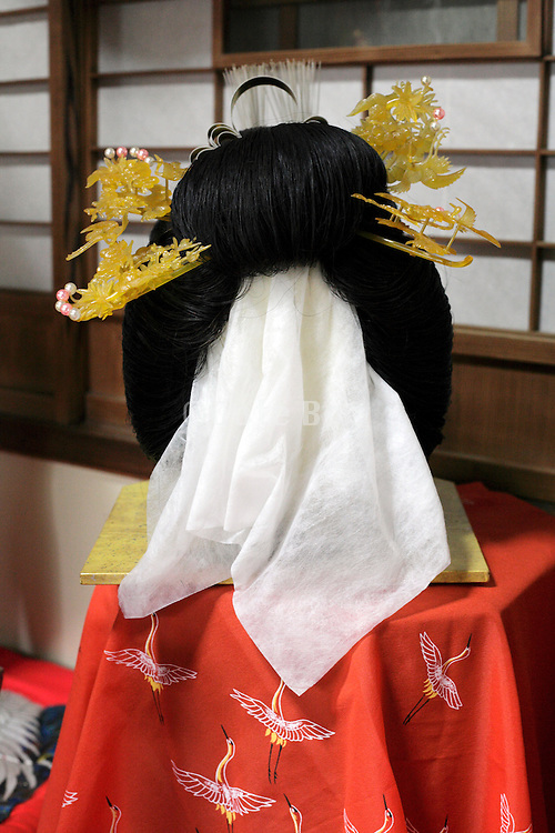 traditional style Japanese wig