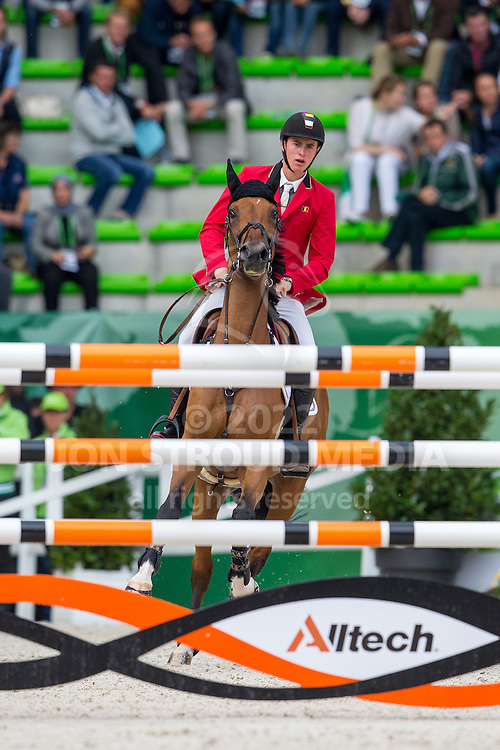 Jos Verlooy, (BEL), Domino - Team & Individual Competition Jumping Speed - Alltech FEI World Equestrian Games™ 2014 - Normandy, France.<br /> © Hippo Foto Team - Leanjo De Koster<br /> 02-09-14
