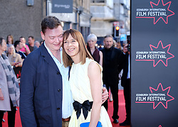 Edinburgh International Film Festival 2019<br /> <br /> Boyz In The Wood (European Premiere)<br /> <br /> Stars and guests arrive on the red carpet for the opening gala<br /> <br /> Pictured: Kate Dickie and partner Kenny Christie<br /> <br /> Alex Todd | Edinburgh Elite media